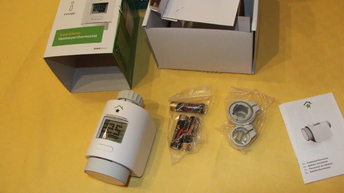 Bauteile des smarten Thermostates von innogy