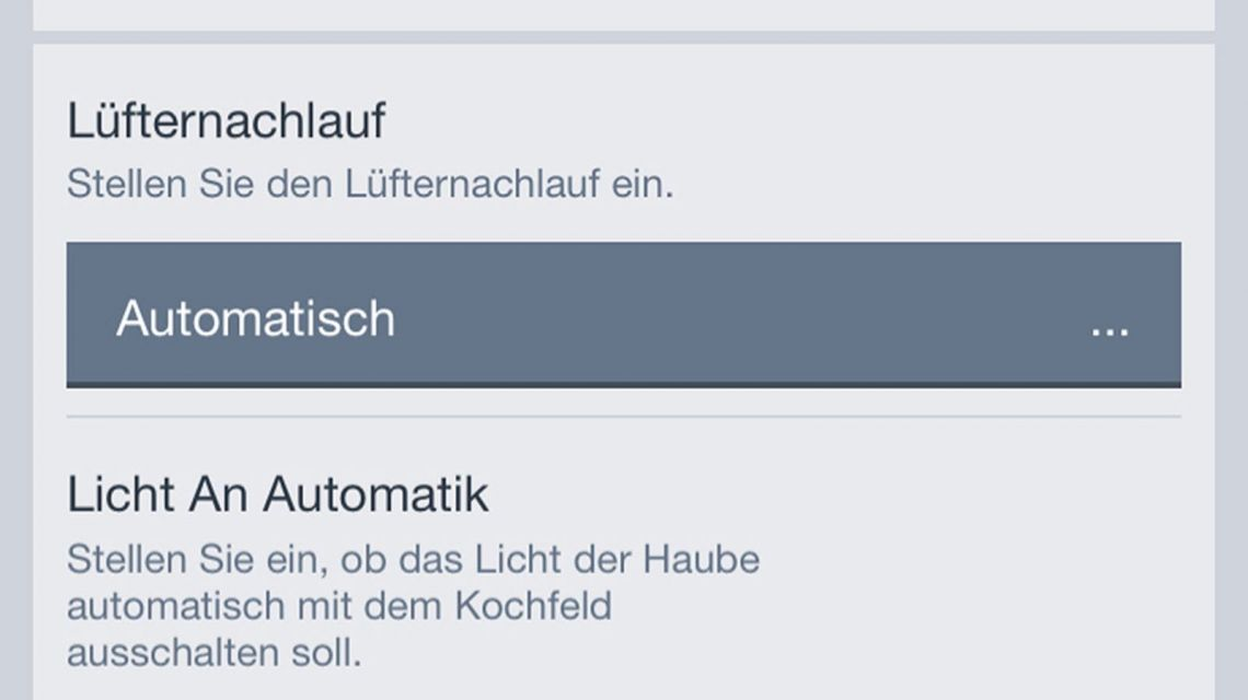 Bosch App Dunstabzug