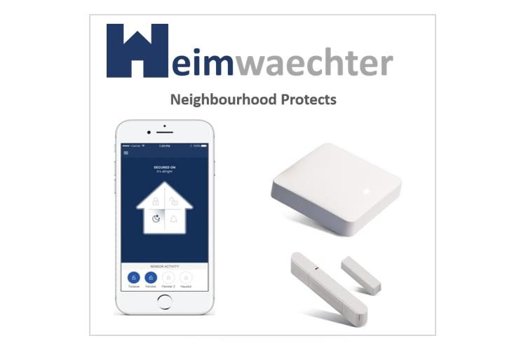 Das Heimwaechter-Gateway vermittelt zwischen den Tür- und Fenstersensoren und der App