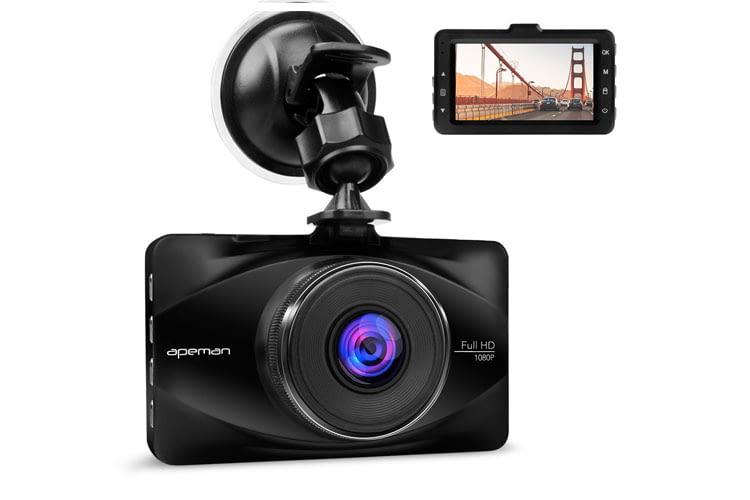 Das Modell der Autokamera C570 des Herstellers Apeman liefert Bilder in Full HD