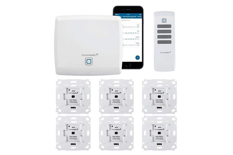 Homematic IP von eQ-3 bietet eine professionelle Alexa-Rollladensteuerung als Unterputz-Lösung