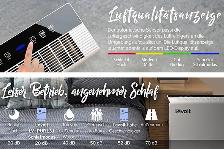 Die Vorteile von Luftreiniger Levoit Air Purifier im Test-Überblick