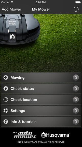 Abbildung der Husqvarna My Automover App für iOS
