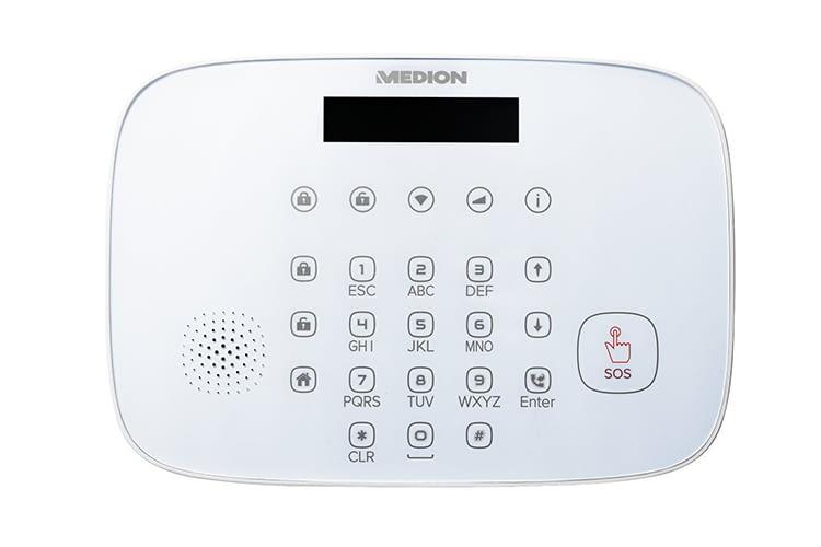 Die Alarmsystem-Zentrale hat Bewegungsmelder, Sirene und Co. auf Empfang
