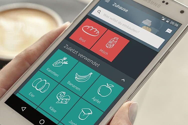 Die Bring! Smartphone-App macht das Zusammenstellen einer Einkaufsliste einfach
