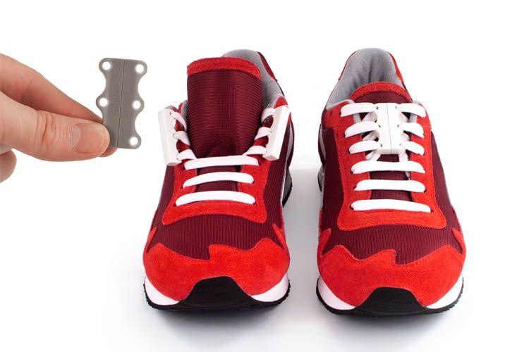 Der praktische Schnellverschluss ist in unterschiedlichen Varianten für Kinder, Senioren oder Sportler erhältlich
