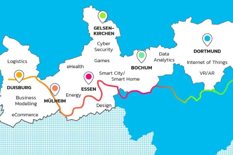 Die Events finden u.a. in Dusiburg, Mühlheim, Essen und Bochum statt