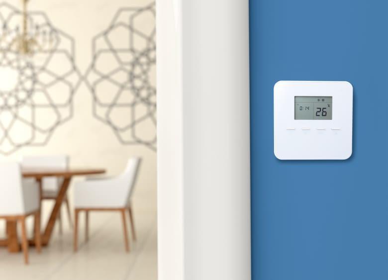Das Smart Home Thermostat TMST-S1 ist in dezentem weiß gehalten