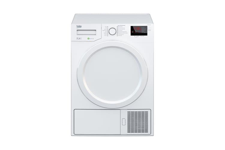 Beko DPS 7405 W3 bietet Knitterschutz, Endzeitvorwahl und Feuchtigkeitssensor