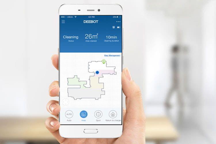 Per App haben Nutzer verschiedene Möglichkeiten, um Bereiche zu markieren, die der ECOVACS DEEBOT OZMO 930 reinigen soll