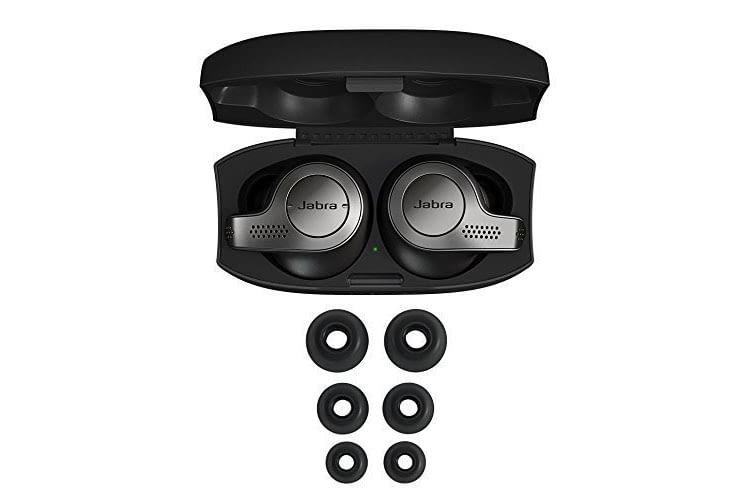 Jabra Elite 65t Lieferumfang enthalten sind 3 earGel-Sets für optimalen Tragekomfort