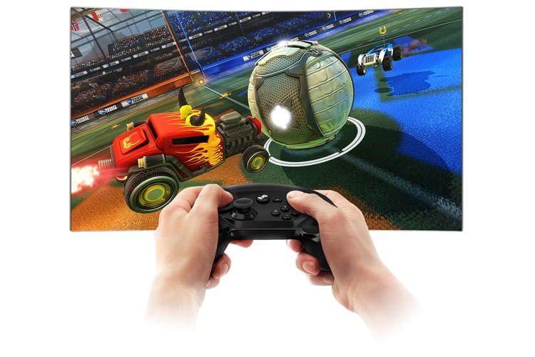 Ein Smart TV eignet sich auch für eine Gaming-Challenge mit Freunden