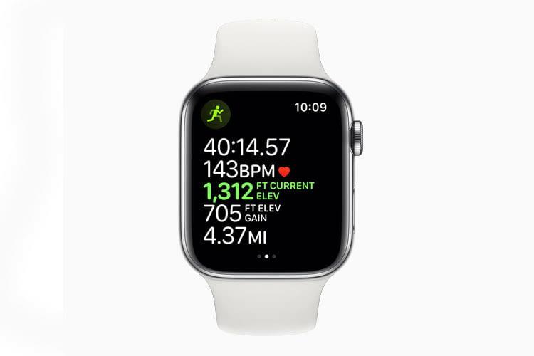 Überwacht nicht nur während des Workouts Gesundheitsfunktionen - die Apple Watch Series 5