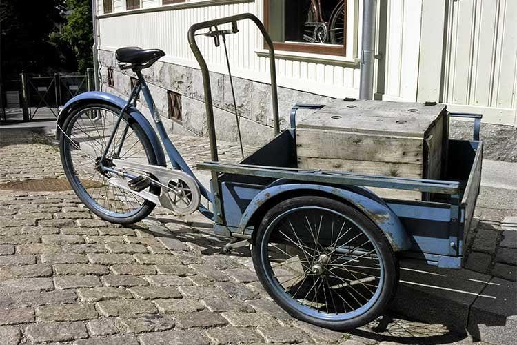 Dreirädrige Lastenfahrräder bieten aufgrund ihrer Bauform mehr Platz für Transportgüter