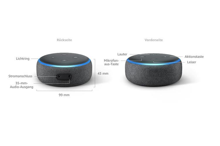 Größer als sein Vorgänger: Amazon Echo Dot 3. Generation