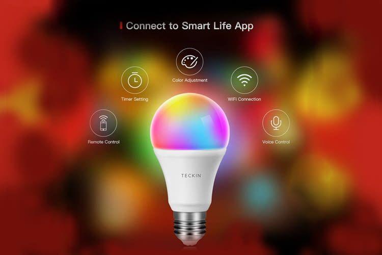 Zur Nutzung der smarten Funktionen ist eine Verbindung der LED mit der Smart Life App nötig
