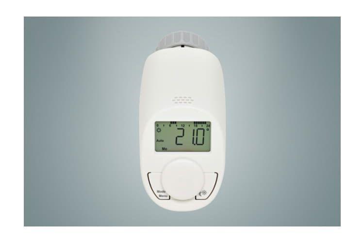 Das eqiva Heizkörperthermostat Model N ermöglicht Zeitsteuerung
