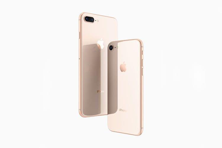 Das Apple iPhone 8 hat einen glänzenden Glas-Rücken