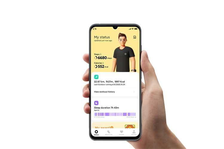 In der Xiaomi Wear Lite App lassen sich z. B. zurückgelegte Streckenabschnitte einsehen