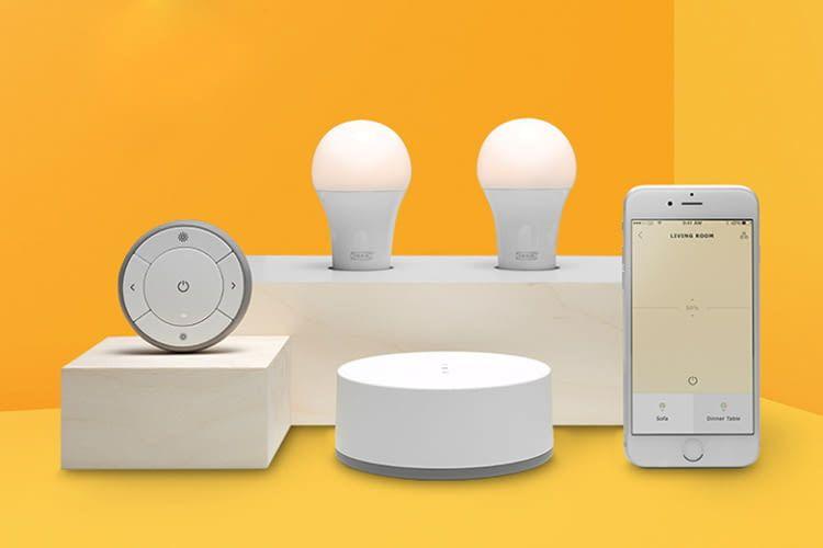 Hier sind einige der smarten IKEA Komponenten zu sehen