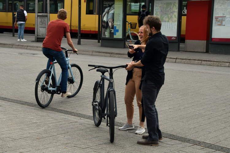 Spaß am Fahren bot das VanMoof S3 E-Bike der Redaktion auf jeden Fall