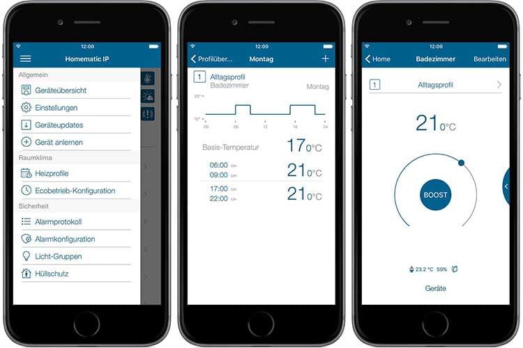 Einrichtung und Steuerung erfolgt über die Homematic IP Smartphone App