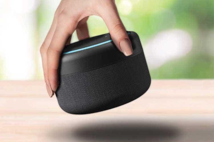 Dank Batteriestation wird Echo Dot zum ständigen Begleiter rund ums Haus