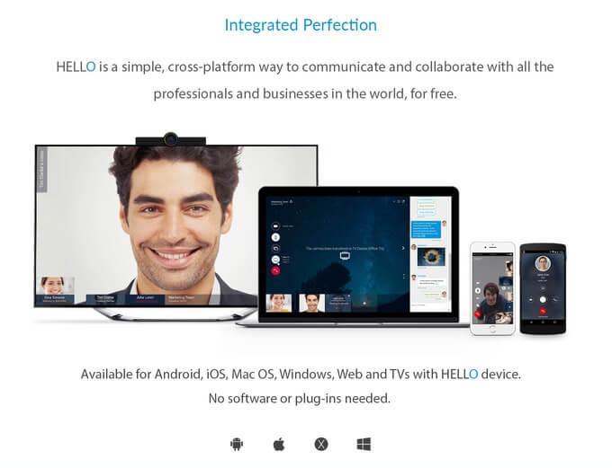 HELLO Videokommunikation - Plattform Apps