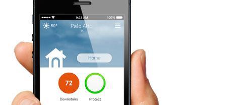 Nest Rauchmelder Smartphone App Anzeige