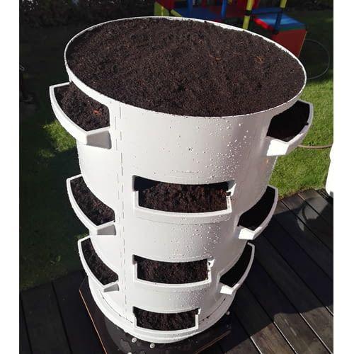 Der substratbasierte Aufsteller funktioniert auch mit Erde