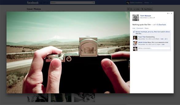 Der Facebook-Assistent ist gleichzeitig Bilderrahmen für unsere Galerien