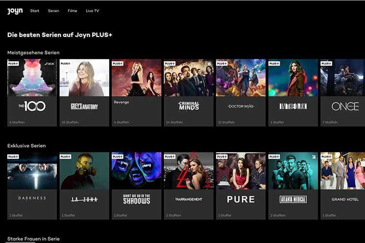 Joyn Plus+ bietet eine große Auswahl an Serien - perfekt für ein Bingen Wochenende