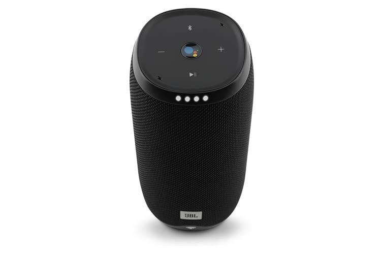 Der tragbare JBL Link 20 Google Assistant-Lautsprecher hält dank starkem Akku eine ganze Nacht lang durch