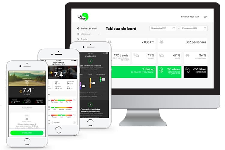 Per WeNow-App CO2 minimieren und weniger Kraftstoff verbrauchen