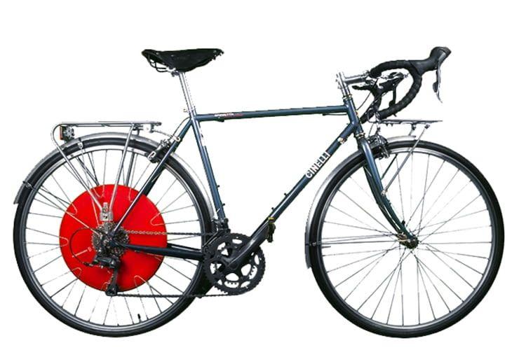 Copenhagen Wheel macht fast jedes Rad zum E-Bike, hier ein Cinelli