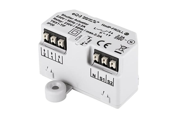 Der Homematic IP Rollladenaktor (Unterputz) steuert Markisen oder Rollläden