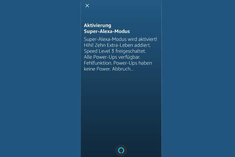 Auch über die Alexa App ist der Cheat-Code abrufbar und sorgt für lustige Reaktionen