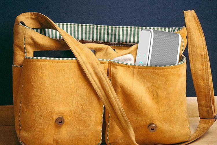Die DOSS SoundBox ist besonders klein und bringt sogar eine wasserdichte Transporttasche mit