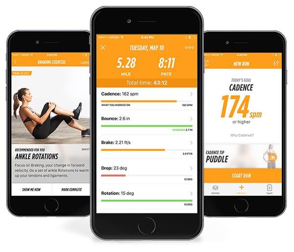 Auf der Lumo Run Fitness App werden die Daten ausgegeben und personalisierte Lauftipps erteilt