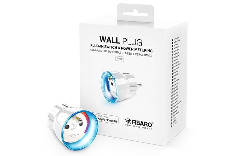 Der FIBARO Wall Plug hat einen LED-Leuchtring, der über Farben den Stromverbrauch anzeigt