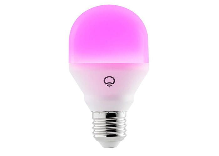 LIFX Mini Colour and White WLAN LED Birne kann in bis zu 16 Millionen verschiedenen Farben leuchten