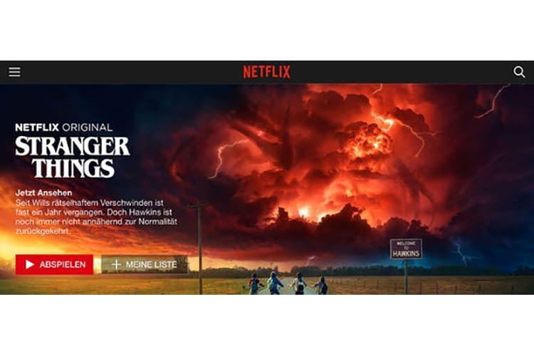 Netflix bietet spannende Serien, wie z. B. Stranger Things