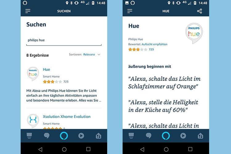 Nach der Aktivieung des Alexa Skills sind die Phlips Hue-Login-Daten erforderlich