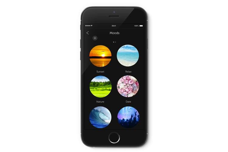 Smartphone App für die Qube LED Wi-Fi und Bluetooth Glühbirne