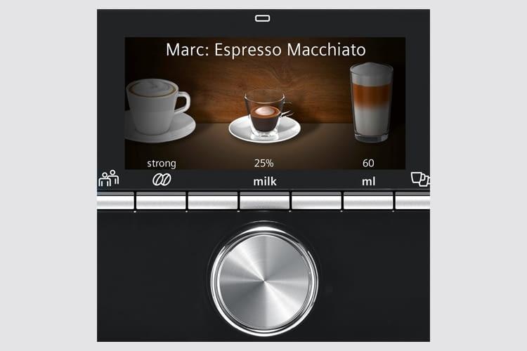 Die Auswahl an Kaffeespezialitäten ist groß und trotzdem sehr übersichtlich gestaltet
