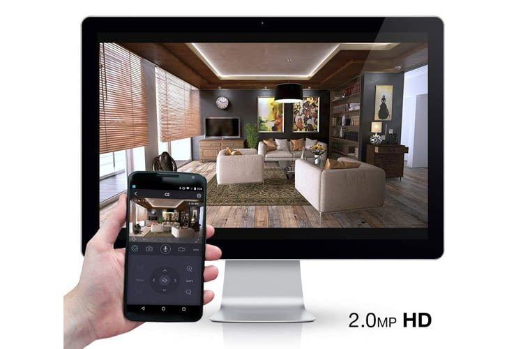 Die Überwachungsvideos können auf verschiedenen Geräten abgerufen werden