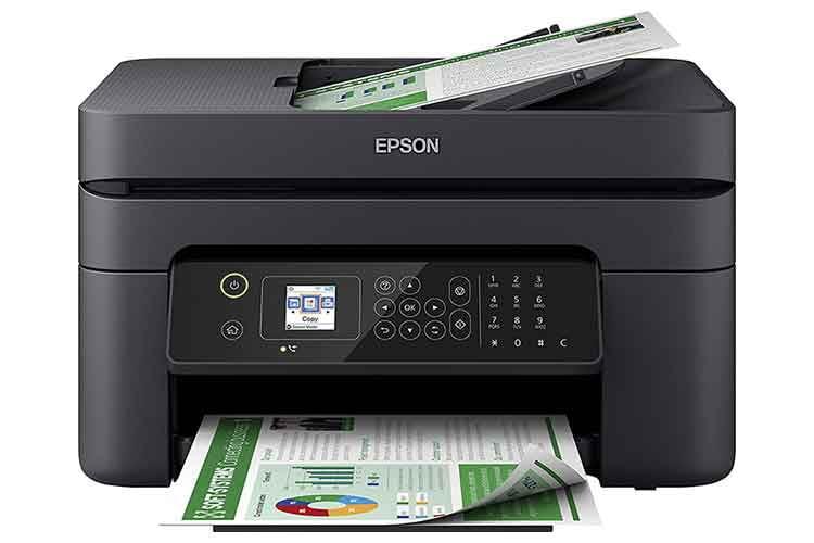 Der Multifunktionsdrucker Epson WorkForce WF-2830DWF ist Farbdrucker, Scanner, Kopierer und Fax-Gerät in einem