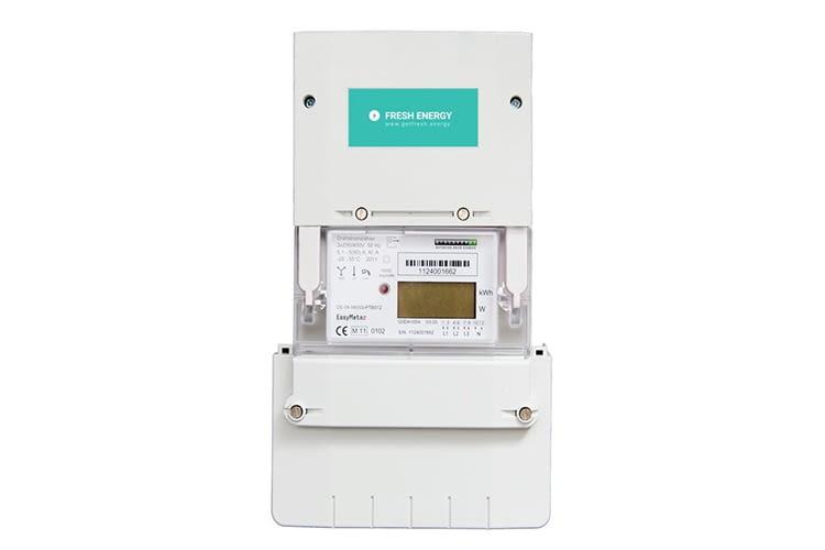 Den intelligenten Stromzähler stellt Fresh Energy Kooperationspartner Discovergy gratis zur Verfügung
