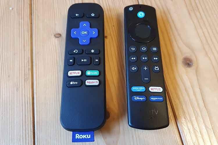 Die Roku-Fernbedienung bietet im Vergleich zur Amazon Fire TV-Remote keine Lautstärkeregelung. Roku nutzen müssen hier zur TV-Fernbedienung greifen