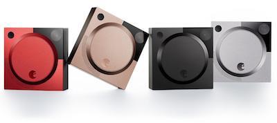 Die August Doorbell Cam in 4 verschiedenen Farben